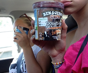 icecream, friends, and summer image