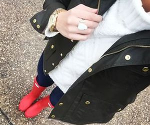 preppy, hunter rain boots, and a_southerndrawl image
