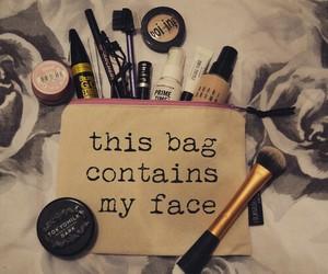 makeup, make up, and bag image