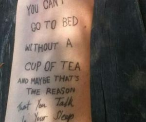 Lyrics, sleep, and tea image