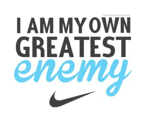 fitness, nike, and enemy image