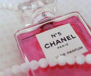 chanel, pink, and perfume image