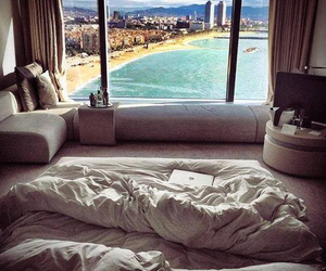 beach, bed, and bedroom image
