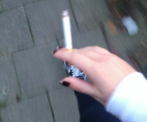 blurry, cigarette, and girl image