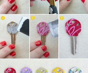 diy, key, and crafts image