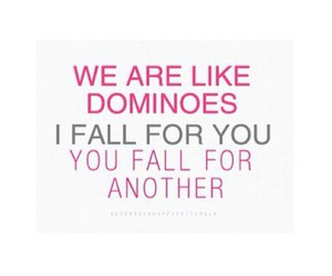 love, quote, and dominoes image