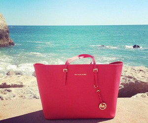 bag, Michael Kors, and beach image