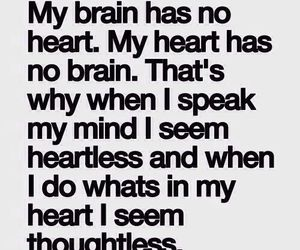 quotes, heart, and brain image