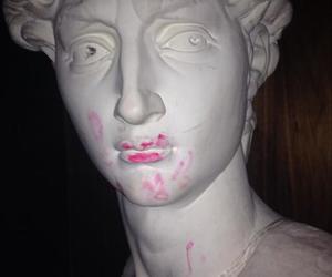 lipstick, art, and grunge image