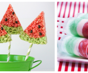 popsicles, watermelon, and rice crispies image