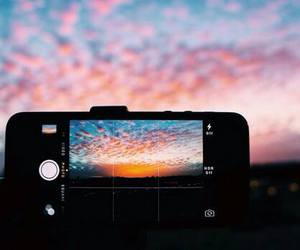 iphone, sky, and photography image