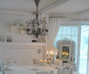 dining room, white room, and shabby chic table image