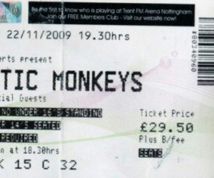arctic monkeys and ticket image