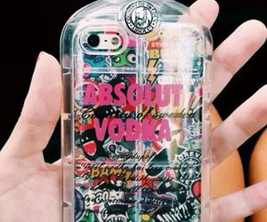 iphone, case, and vodka image