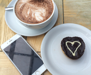 cafe, heart, and iphone 6 image