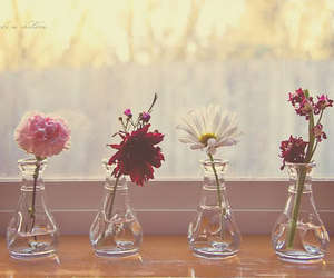 flowers, vintage, and vase image