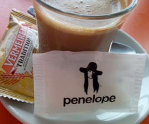 cafe, funny, and Penelope image