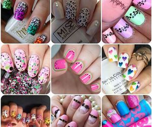 Collage, nail art, and baby lips image