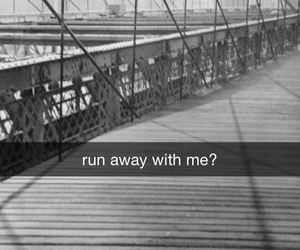 run away and snapchat image