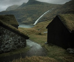 landscape, mountains, and faroe islands image
