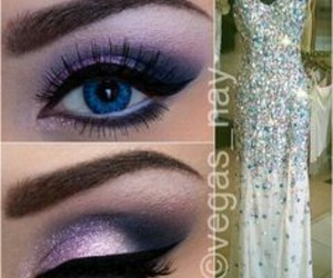 beauty, makeup, and Prom image