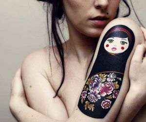 tattoo, doll, and ink image