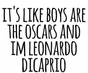 boy, oscar, and leonardo dicaprio image