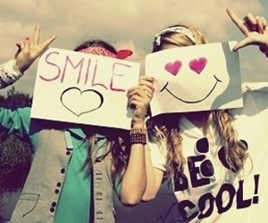 smile, friends, and heart image