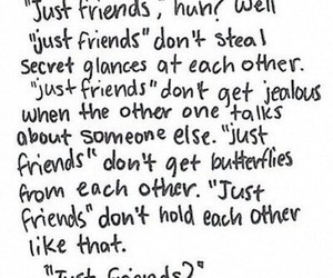 quotes, just friends, and friends image