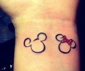 tattoo, mickey, and minnie image