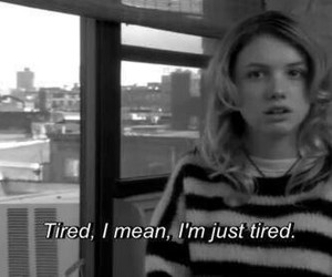 tired, cassie, and skins image