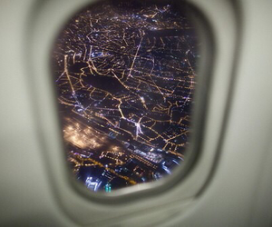 light, city, and airplane image
