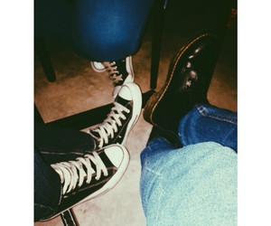 black boots, converse, and human image