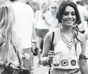 vanessa hudgens, black and white, and hippie image