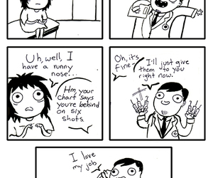 funny, doctor, and sarah andersen image