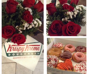 couple, doughnuts, and love image
