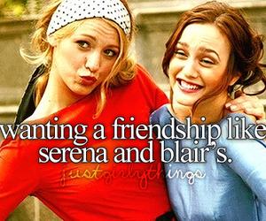 blair, serena, and friendship image