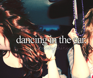 dancing, car, and friends image