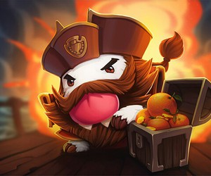 league of legends, gangplank, and poro image