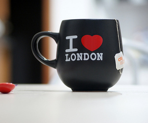 london, tea, and cup image