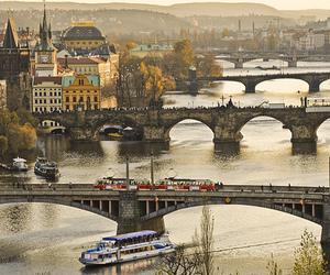 prague, river, and city image