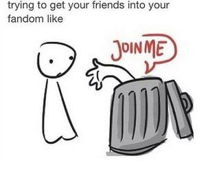 fandom, funny, and trash image