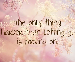 quote, hard, and letting go image