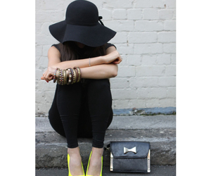 bangles, cute outfit, and black image