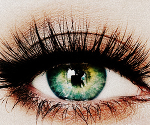 eyes, beautiful, and green image