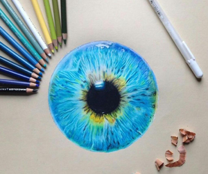 blue, art, and eye image