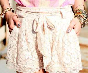 fashion, lace, and shorts image