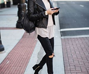 ankle boots, bag, and fall image