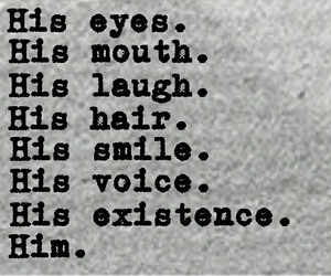 him, his smile, and his eyes image