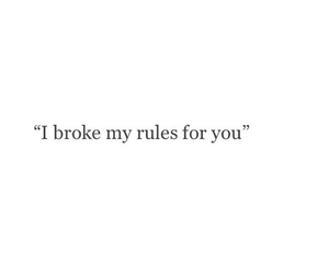 broke, i, and rules image